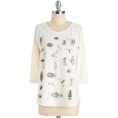 """""""ModCloth Critters Mid-length 3 Cutie Crawlies Top"""" found on Polyvore"""