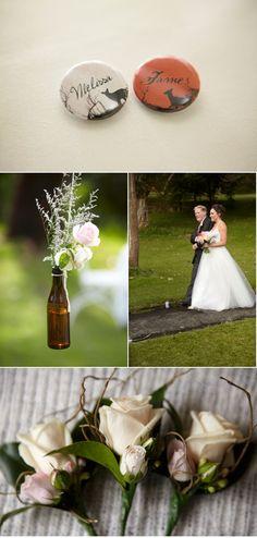 Beer bottle decorations...hmmm...ideas...