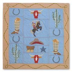 Patch Magic Cowgirl Shower Curtain - CSCGRL