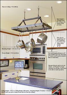 kitchen+with+pot+rack | Kitchen Pot Racks Setup Guide