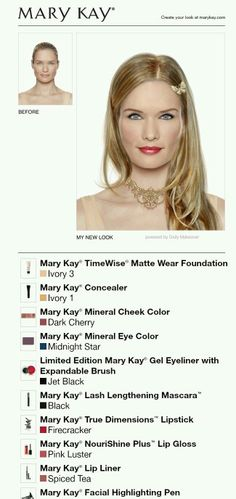 Step by step in how to get this look, check my website at www.marykay.com/ismith1114