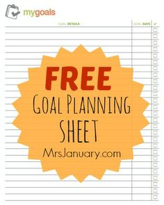 You are much more likely to succeed with goal setting when you write your goals down on paper and keep them in a place that you will see them often. That's why we've gone ahead and created this free goal setting sheet for you to download, print and use!