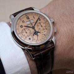 Patek Philippe Perpetual Calendar Chronograph Ref. 5270P Salmon Dial #patek #patekphilippe #patekchronograph #patek5270 #patek5270P