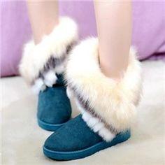 Alluring Cony & Fox Hair Snow Boots