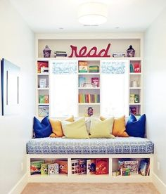 Kids' Reading Nooks - FOUND IT!!!! this is exactly what i had in mind for the upstairs landing area