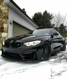 BMW F82 M4 black winter