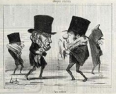 Honore Daumier drawings - Croquis D'Hiver