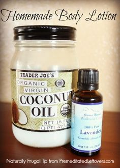 Naturally Frugal Tip: Make Your Own Body Lotion  I love love love doing this with coconut oil and sandalwood :)--CTG