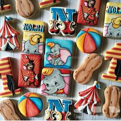 "1,450 Likes, 41 Comments - Sandie (@youcancallmesweetie) on Instagram: ""Adorable #dumbo to clear the Monday blues 🐘🐘🐘#oldiebutgoodie #decoratedcookies #customcookies…"""