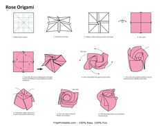 All of you must be familiar with origami. Although origami is originated from Japan, it already becomes the most favourite art to create all around the world. From children to adults, all of them love to make origami. Diy Origami, Easy Origami Rose, Paper Origami Flowers, Origami Flowers Tutorial, Design Origami, How To Make Origami, Useful Origami, Origami Paper, Origami Folding