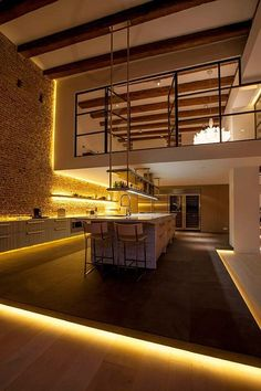 loft warehouse living (Master Bedroom) Flow Works highlight all installations with light?