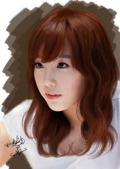 SNSD Taeyeon Digital Painting by aimgallagher