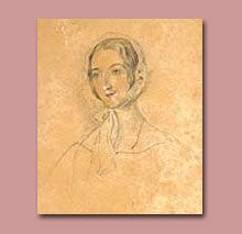 Pencil and chalk sketch of Anna Lefroy