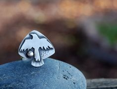 Raven Ring. Bird Totem Jewelry. Soar into the Sun. Ring by Arrok, $128.00