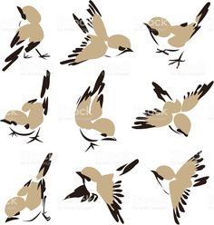 Might be a nice starting point for the sparrow. Graphic yet painterly and very adaptable in illustrator 🙂 Might be a nice starting point for the sparrow. Graphic yet painterly and very adaptable in illustrator 🙂 Art And Illustration, Vogel Illustration, Stock Illustrations, Chinese Painting, Chinese Art, Chinese Brush, Art Chinois, Art Asiatique, Bird Drawings