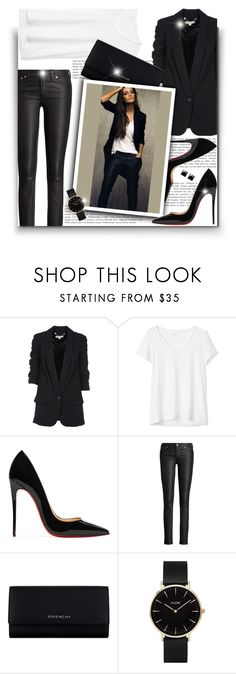 """""""Black & White!"""" by asia-12 ❤ liked on Polyvore featuring Michael Kors, Gap, Christian Louboutin, Ralph Lauren, Givenchy, CLUSE and Witchery"""