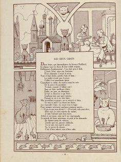 Fables de Florian illustrees par Benjamin Rabier, 1936 (Les Deux Chats) by peacay, via Flickr