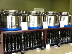 The Beaufort Olive Oil Company in Beaufort, NC. offers free tastings to sample their extensive line of olive oils.  They import premium organic and fused whole citrus olive oils from around the world.