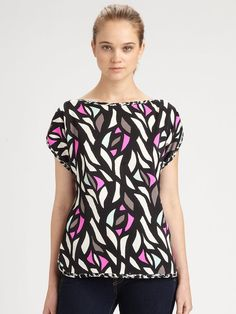 Stained Glassprint Top - Lyst