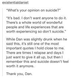 Thank you, Dan. <3