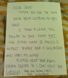 Funny Tooth Fairy Letter!...