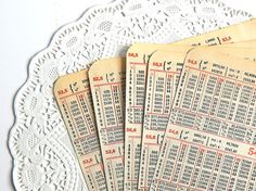 Vintage 1920's Calculator Book Pages. Paper by ThePaperBasket
