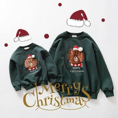 2016 Cotton T-shirt Christmas animal mother Mommy and Me Daughter Father Baby Clothes Matching Family Clothing Sets Family Look