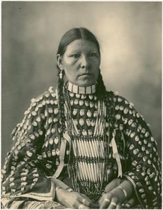 Hannah Little Bird of the Southern Inunaina (Arapaho) tribe.  1898