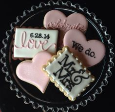 Customizable I Do Sugar Cookie Wedding by NotBettyCookies on Etsy