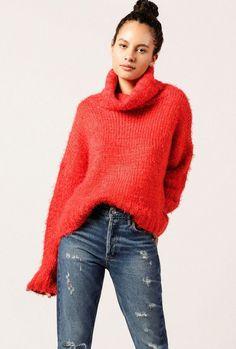105bbcc2e61a Chunky Turtleneck Sweater  commissionlink  sweater  redsweater   chunkysweater  fashion2018  winter2018