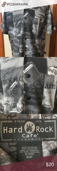 Hard Rock Cafe length 29 1/2 chest 22 1/2 Hard Rock Cafe Shirts Casual Button Down Shirts