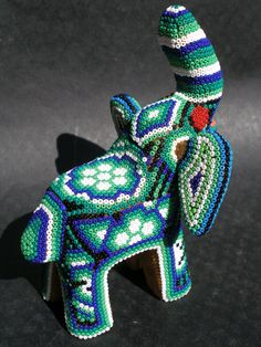 Huichol Wood Elephant