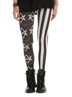 Bring Me The Horizon Stars Stripes Leggings. OHMYGOSH I HAVE THESE. I HAVE BVB NOW I HAVE THESE