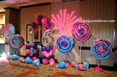 Candy themed party supplies candy party decorations theme party d Party Food Themes, Casino Party Decorations, Casino Theme Parties, Party Centerpieces, Balloon Decorations, Party Ideas, Girl Parties, Balloon Ideas, Theme Ideas