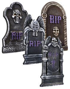 4 Grabsteine 3D, 40x20cm, Styropor DEKO Halloween, Horror 7451 | eBay