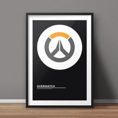 Overwatch Poster, Game Poster, Minimalist Poster, Flat Poster Design, Clean Poster Design, Digital Printable Poster