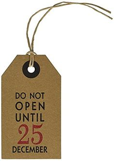 6 Pack - CleverDelights Christmas Gift Tags - Do Not Open Until December 25 - Kraft Paper Hang Tags - Vintage Present, Gift Wrap, and Wine Bottle Decorative Holiday Tags ** You can get more details here : Christmas Gifts