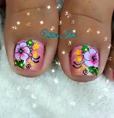 Pretty Toe Nails, Pretty Toes, Bright Summer Nails, Toe Nail Designs, Toe Nail Art, Cosmetology, Pedicure, Lily, Beauty