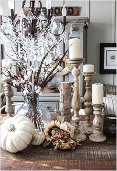 Vintage Decor Living Room Awesome Farmhouse Living Room Decorating Ideas - Page 27 of 28 Fall Home Decor, Autumn Home, Christmas Living Room Decor, Living Room Decor 2018, Fall Living Room, Living Area, Seasonal Decor, Holiday Decor, Fall Table