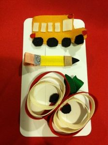 adorable for Lila's first day of kinder ... wonder if I can make something similar