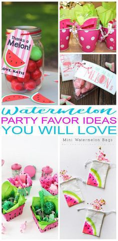 9 Watermelon party favors! The coolest party favor ideas for a Watermelon bday party theme. Goodie bags, candy, toys and more perfect for any Watermelon party (classroom, baby shower, summer, birthday party). Get the best birthday party favor ideas for kids now!