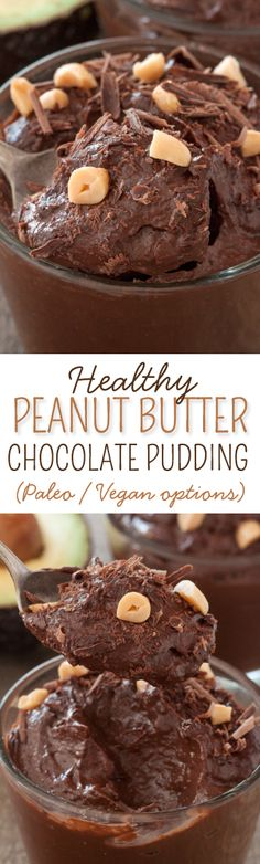 This easy no-cook chocolate peanut butter pudding is a healthy and guilt-free dessert! {naturally gluten-free and grain-free with paleo, vegan and dairy-free options}
