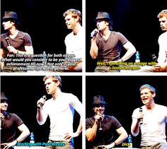 love them both!!! Ian Somerhalder and Joseph Morgan - The Vampire Diaries  Loving Ian's answer to Joseph's statement