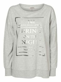MICHAEL L/S SWEAT MIX - NM, Light Grey Melange, main