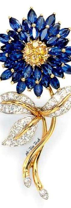Sapphire & coloured Diamond Brooch, By Oscar Heyman &…
