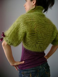 Top quality luxury Kid Mohair leafy knitted shrug / bolero THE BEAUTY OF SPRING | Flickr - Photo Sharing!