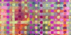 """Plaid painting  """"Life is art, live yours in COLOR!"""" Magenta, pink, and yellow pattern painting."""
