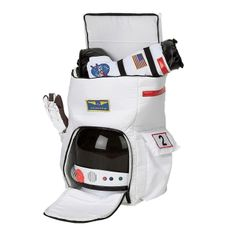 Jr. Astronaut BACKPACK NASA Deluxe White Child Costume | Aeromax ABP_WHT