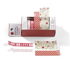 Martha Stewart Crafts - Valentine's Day Collection - Paper Tape - Hearts and Flowers at Scrapbook.com $4.99