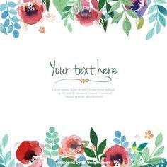 Template flores pintados mão Vetor grátis